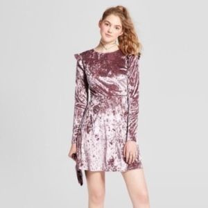 NWOT Mossimo Long Sleeve Velvet Dress Size L